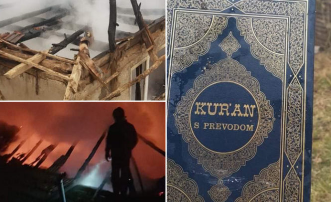 Kuća izgorjela do temelja: Samo Kur'an ostao netaknut