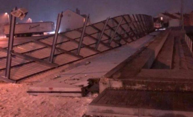Posušje: Snažan vjetar odnio krov i srušio zid na stadiona!