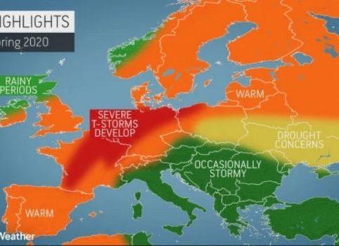 Polako ispraćamo zimu, a evo kakvo nas proljeće očekuje: Na zapadu i istoku Evrope sparina, a prognoza za Balkan vam se neće dopasti
