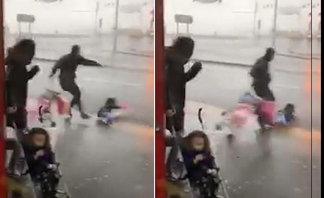 """Traumatična snimka iz Evrope: Oluja """"Ciara"""" otrgnula dijete iz kolica i ponijela ga niz ulicu"""